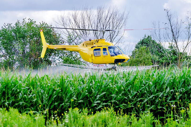 Agricultural Helicopter Spraying in Missouri